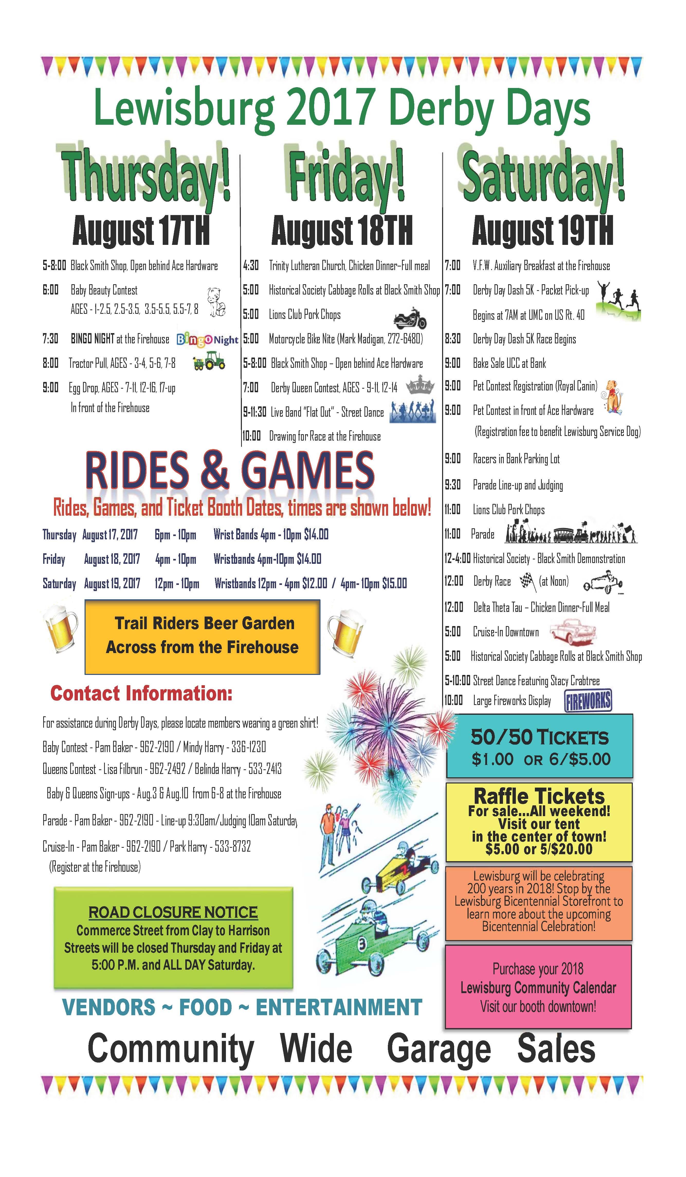 Lewisburg Ohio Map.Derby Days Festival